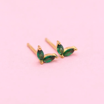 Olive earring studs