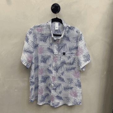 Camisa hojas rosa