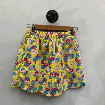 Short amarillo flores