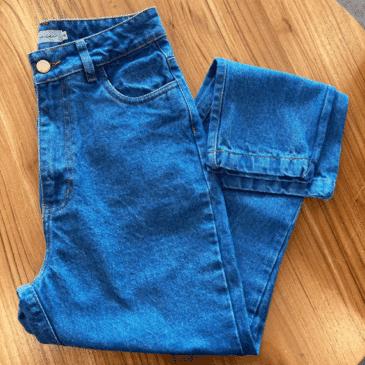 Mom jean azul